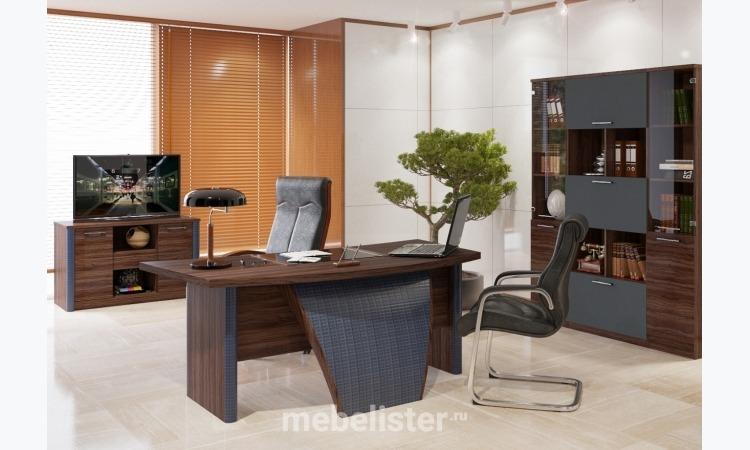 """Кабинет для руководителя """"Luna"""" от Мебельный Дом Формула. Офисная мебель, Офисный стол, Офисный шкаф, стеллаж, полка, Офисная тумба"""